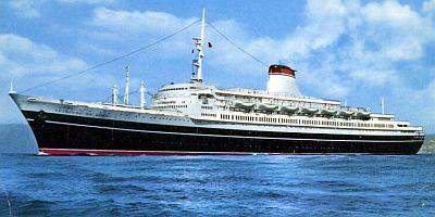 The Last Ocean Liners Of Italian Line Cristoforo Colombo - Columbo cruise ship